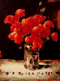 Picturi cu flori maci in luminaa