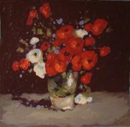 Picturi cu flori Maci si flori de camp