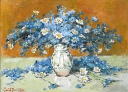 Picturi cu flori Albastrele