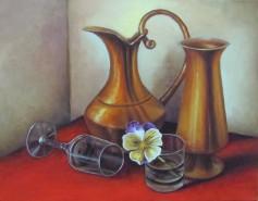 Picturi cu flori Metal si sticla