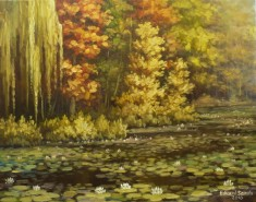 Picturi cu flori Nuferi toamna