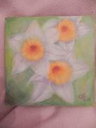 Picturi cu flori Trio