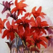 Picturi cu flori Crin rosu imperial