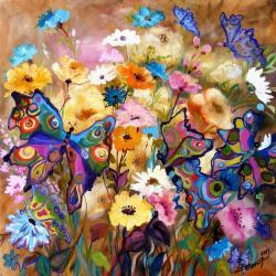 Picturi cu flori Fluturi in vacanta