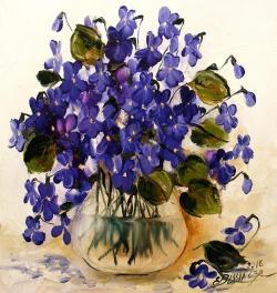 Picturi cu flori toporasi 3