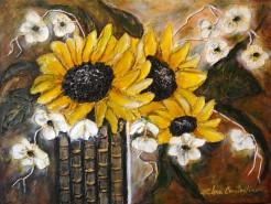 Picturi cu flori Buchet de soare