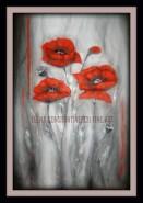 Picturi cu flori Maci in visul de argint