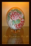 Picturi cu flori Pictura pe ou de strut 3