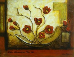 Picturi cu flori Red ikebana