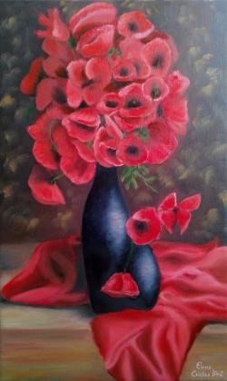 Picturi cu flori Beautiful poppies