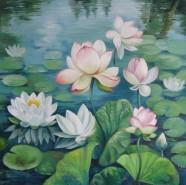 Picturi cu flori Flori de lotus