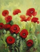 Picturi cu flori Maci rosii 1