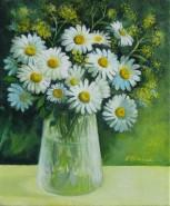 Picturi cu flori Vas cu margarete