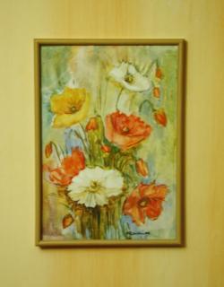 Picturi cu flori Maci in buchet 1,inramat