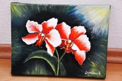 Picturi cu flori Rasarit cu flori