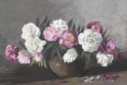 Picturi cu flori bujori in vas 13