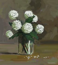 Picturi cu flori bulgarasi in borcan