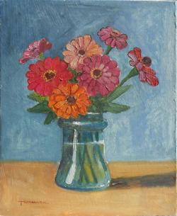 Picturi cu flori carciumarese in borcan 3