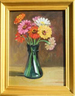 Picturi cu flori carciumarese in vas de sticla 4