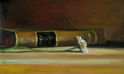 Picturi cu flori carte si o margareta