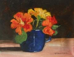 Picturi cu flori Condurasi in ceasca albastra
