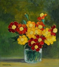 Picturi cu flori craite in borcan ...7