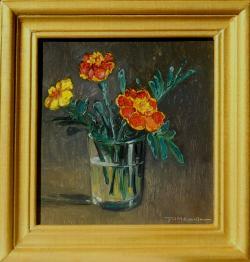 Picturi cu flori craite pitice in pahar