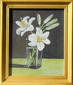 Picturi cu flori crin in pahar