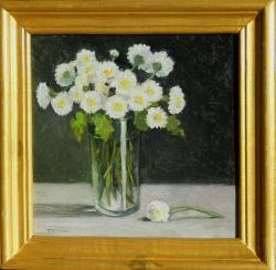 Picturi cu flori crizanteme pitice in pahar
