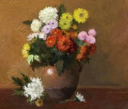 Picturi cu flori flori colorate de toamna