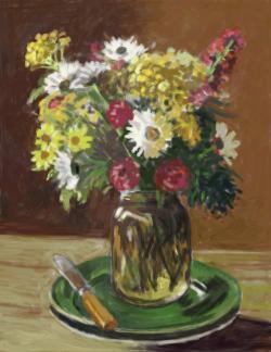 Picturi cu flori flori de camp in borcan 22.