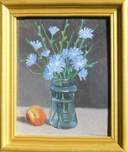 Picturi cu flori flori de cicoare in borcan