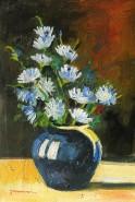 Picturi cu flori Flori de cicoare in vas