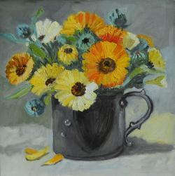 Picturi cu flori flori de galbenele 3