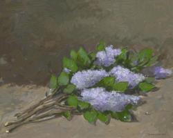 Picturi cu flori flori de liliac 3.