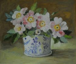 Picturi cu flori flori de macese.