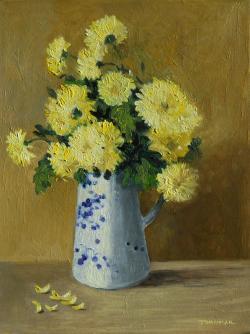 Picturi cu flori flori galbene de toamna 2