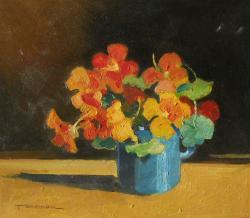 Picturi cu flori flori in cana 2
