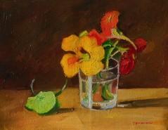 Picturi cu flori Flori in pahar