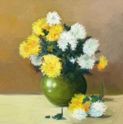 Picturi cu flori flori in vas 1