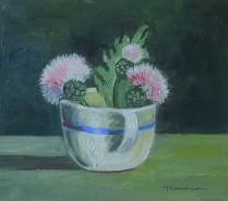 Picturi cu flori Flori parfumate in ceasca