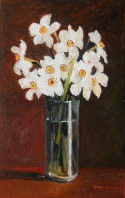 Picturi cu flori flori pentru primavara narcise