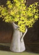 Picturi cu flori Forsythia in cana