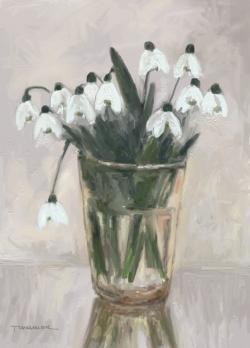 Picturi cu flori ghiocei in pahar 4