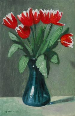 Picturi cu flori lalele multicolori