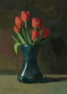 Picturi cu flori Lalele rosi