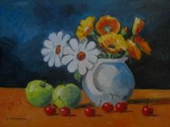 Picturi cu flori Natura moarta cu flori si fructe