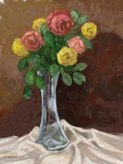 Picturi cu flori roses 1