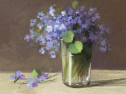Picturi cu flori Toporasi in pahar