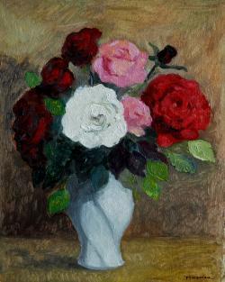 Picturi cu flori trandafiri ...4